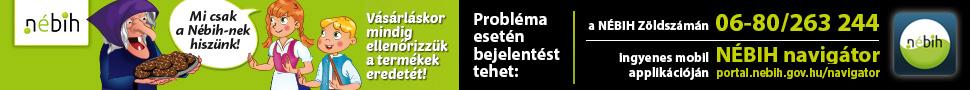 Nébih zöld szám banner